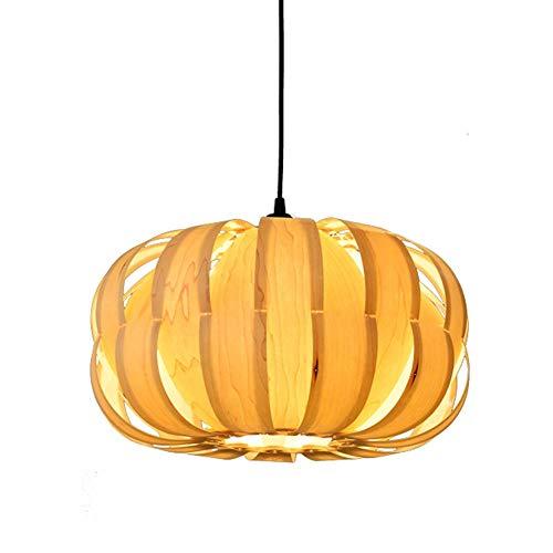KAD Novely Kronleuchter-Pendelleuchte Holz Lampenschirm Höhenverstellbar Esstisch Hängelampen Esszimmer Deckenleuchte Schlafzimmer Küche Wohnzimmer Lampe Dekoration Beleuchtung Sockel 1 * E27