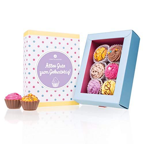 6 American Cupcakes - Geburtstag - Cupcake-Pralinen | Luxus Pralinen | besondere Schokolade | Geschenke | Geschenkidee | Frau | Mann | Frauen | Männer | Papa | Mama | Oma | Opa - Geburtstag Cupcake