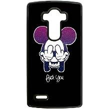 Mickey Mouse caja del teléfono celular lg d388cm g4 funda de teléfono 1xurml negro funda caso duro de encargo