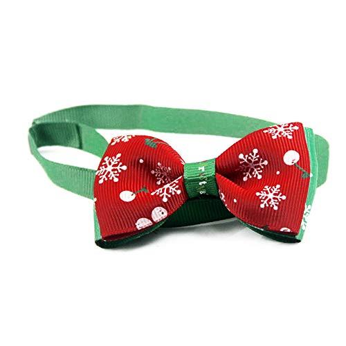 tzen Halsbänder Kostüm Halsband mit große Schleife Weiche Verstellbare Halskette in Rot & Grün Gutes Geschenk für Haustier ()