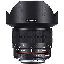 Samyang AE 14 mm IF ED UMC - Objectivo para Canon, color negro