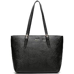 MISAKO - Bolso ASIAN Shopping 15 X 45 X 29 cm Símil Piel Negro | Bolso Tote MSK
