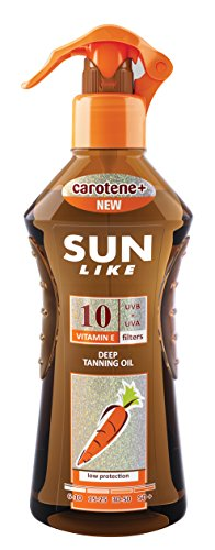 Sunlike Bräunungsbeschleuniger Öl mit Carrot SPF 10 Sprayer 200 ml (Natürlichen Spf10)