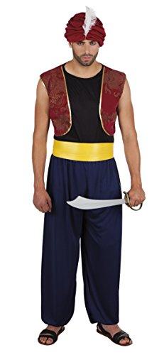 erdbeerloft - Herren Hochwertiges Kostüm Beduine Kämpfer, Mehrfarbig, (Alladin Kostüme)