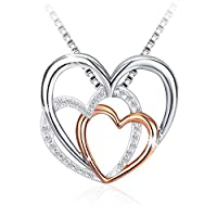 Swarovski Elements 925 Sterling Silver Pendant Necklace for Female Women Ladies Girls Gift Jewelry JR890