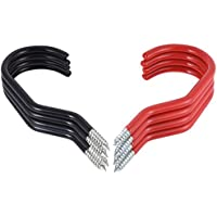 Juego de ganchos para guardar bicicletas, de PChero, 4 rojos y 4 negros, capacidad de 30 kg por gancho.