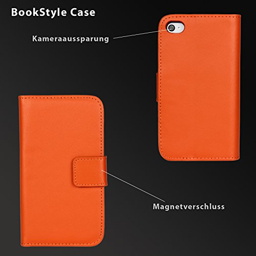 eximmobile Premium - Book Style Case Housse pour Apple iPhone + Film blindé