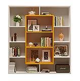 HOMIDEA Venus Étagère à Livres – Étagère – Étagère – Séparation de pièce – Salon/Bureau au Design Moderne (Blanc/Orange)