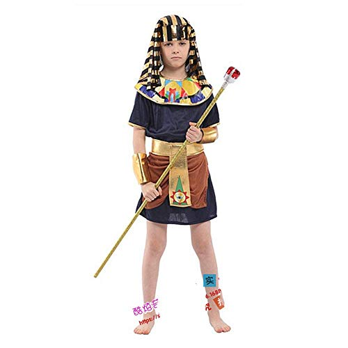 Unbekannt Ägyptische kleine Krieger Kinder männliche Performance Kleidung Eltern-Kind-Familie Halloween COS Kleidung Campus Performance Drama Rollenspiel (Männliche Krieger Kostüm)