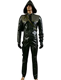 Jeylu Arrow Oliver Queen Green Arrow Man Cosplay pour les hommes l'europe Taille