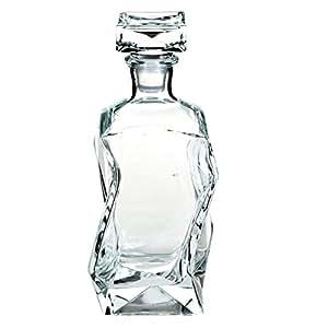 Solavia Carafe à décanter incurvée en verre pour spiritueux Boîte incluse 0,75 l