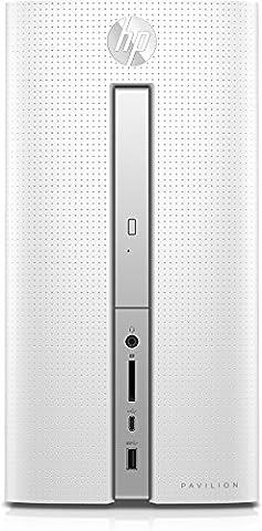 HP Pavilion 570-p550ng Desktop PC (AMD Quad-Core A10-9700 APU, 4 GB RAM, 1 TB HDD, AMD Radeon R7-Grafikkarte, DVD-Writer, Windows 10 Home 64) weiß