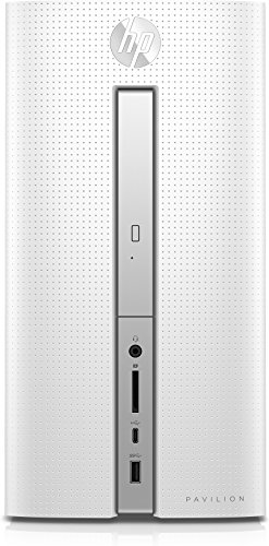 HP Pavilion 570-p553ng Desktop PC (AMD Quad-Core A12-9800 APU, 8 GB RAM, 1 TB HDD, AMD Radeon R7-Grafikkarte, DVD-Writer, Windows 10 Home 64) weiß