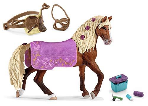 3in1-SET Schleich Pferde Horse Club - Paso Fino Hengst mit Decke + Sattel und Pflegeset 42468 + 42492 + 42366