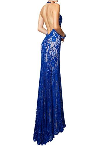Milano Bride Elegant Royal Blau Spitze Abendkleider Ballkleider  Partykleider Etui Lang Brautmutter Damenmode Schwarz ...
