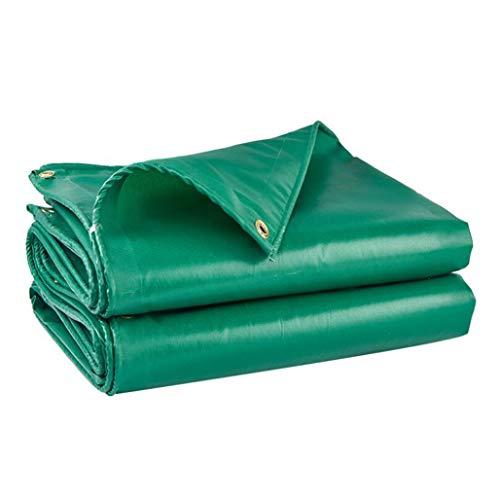 RSGDWD Regendicht Tuch, Dicke wasserdichte Sonnenschutz-Plane im Freien Markise Autoabdeckung Leinwand, mit perforiertem Plastiktuch-Plane (Color : Green, Size : 2 * 1.5)
