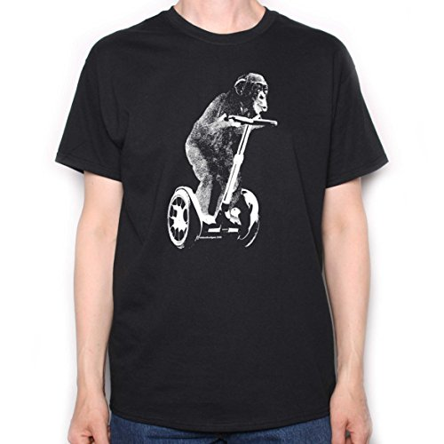 Chimpanzee-Riding-On-A-Segway-T-shirt