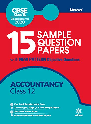 15 Sample Question Paper Accountancy Class 12th CBSE 2019-2020