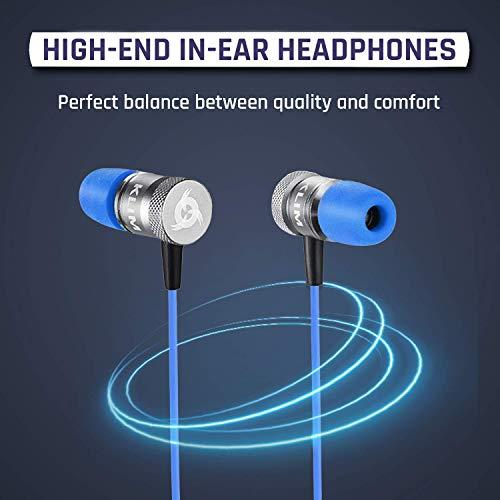 KLIM Fusion In-Ear-Kopfhörer mit Memory Foam, Blau - 2