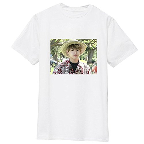 Coaste Antilane KPOP BTS T-Shirt, Bangtan Boys Suga/Jin/Jimin/Jung Kook/J-Hope/Rap-Monster/V Hip Pop Pullover Rundhals Kurzarm Tops für Liebespaar Männer Damen Jugendliche (Style 01, L)