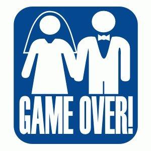T-Shirt für den Junggesellinnenabschied mit dem Motiv Game over Schwarz