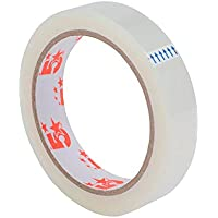 5 Star Office (19mm x 66m) Tape Roll Large Easy-tear Polypropylene 40 Microns (Clear) Pack of 8