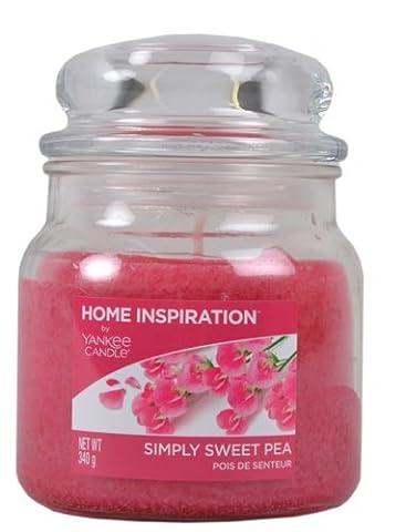 Home inspiriert von Sweet Pea nach Honig Yankee Candle fruchtig Süße Duftkerze–Home Duft Kerze–Parfüm Kerze Jar Kerze, lange Brenndauer 340g