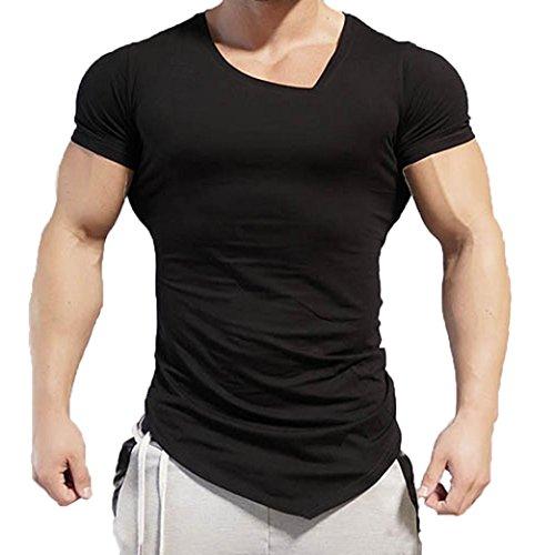 LuckyGirls Camisetas Hombre Originales Manga Corta Irregular Polos  Personalidad Casual Deporte Camisas Moda Slim Remera d7a4bd45b19f1