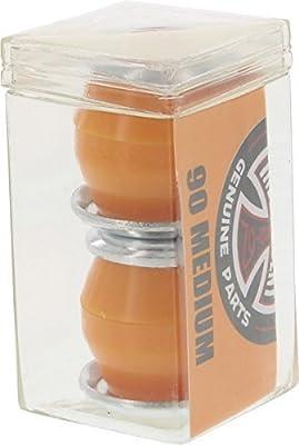 Independent Standard konische Kissen orange Skateboard Buchsen–2Paar mit Unterlegscheiben–90A von unabhängigen