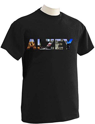 T-Shirt mit Städtenamen Alzey Schwarz