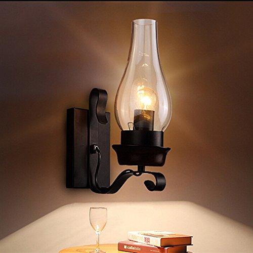 Midore Rustikale Wandleuchte Antik Wirkende Innen Kreativwirtschaft Eisen WandlampeRustikalem Design Schwarz