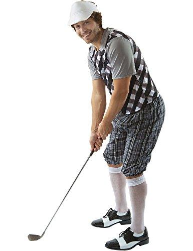 Erwachsener Herren Golf Kneipe Junggesellenabschied Kostüm Visier Extra (Herren Golf Kostüm Für)