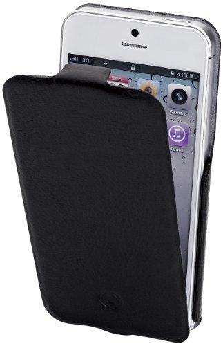 Celly Custodia in Pelle con Flap Verticale per iPhone 5/5S, Nero