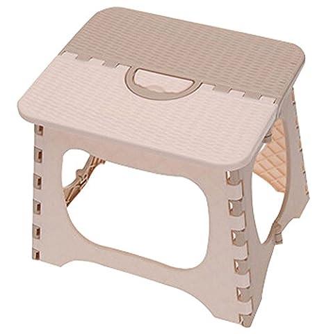 Tabouret pliant les Chaises pliantes Portable enfants Beige