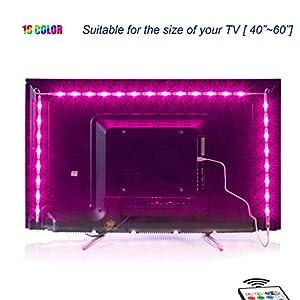 Led TV Hintergrundbeleuchtung,2M USB Led Beleuchtung Hintergrundbeleuchtung Fernseher USB für 40 bis 60 Zoll HDTV,TV-Bildschirm und PC-Monitor,Led Strip.MEHRWEG