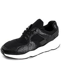 Damen Mode Komfort Schnürer Turnschuhe Flache Schuhe Sneakers Fitnessstudio Fitness Pumps - Silber/glänzend, EU 39