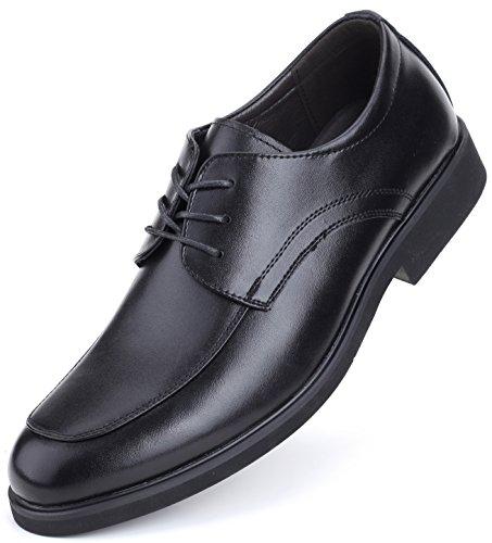 Marino Avenue Herren Derby-Schuhe - Leder - Klassisch & Elegant - Schwarz - Schnüren - 44 EU