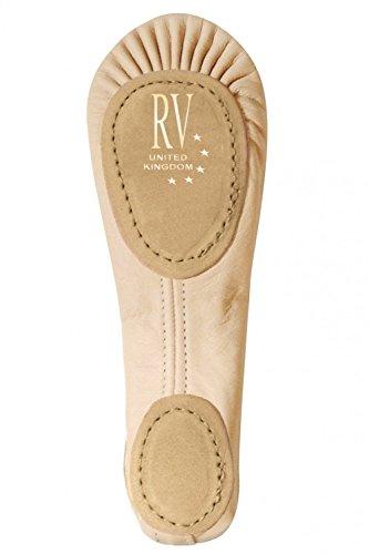 Roch Valley Demi-pointes bi-semelles en cuir Rose pâle