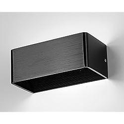 Louvra Apliques de Pared Lámpara de Pared en Moda de Puro Aluminio 6W, Iluminación de Pasillo, Entrada, Dormitorio, Decoración Hogar, Blanco Frío