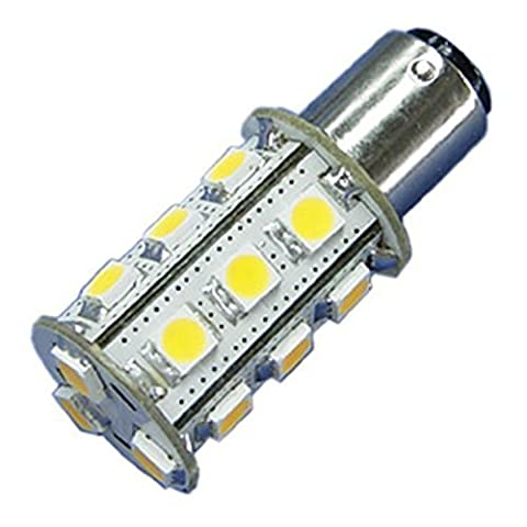 Dc 12V to 24V 3.75W Cluster Led Light Bulbs in Warm White 5050 Perfect Replacement Bulb for Ba15s, Mini BC Bayonet Twist 1156 Lamp Lighting for Car or Truck Interior Lights and