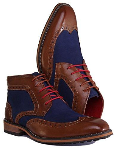 Justin Reece Lee, Chaussures de ville à lacets pour homme Marron