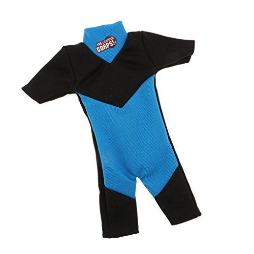 CUTICATE Trendige Puppe Neoprenanzug Tauchen Schwimmen Kleidung Für 28 30cm Soldat Puppen ACCS - Blau