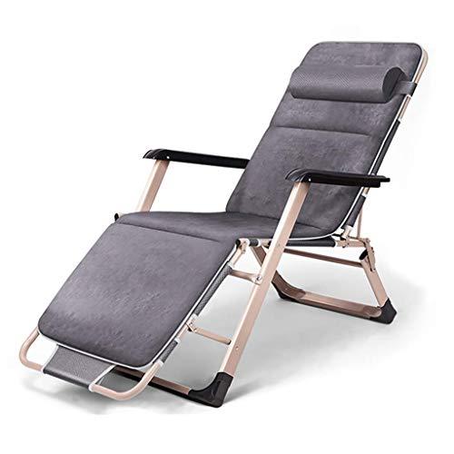 LVLUOYE Fauteuil Relax,Rocking Chaise Pliante en métal Loisirs Chaise, Lits Sieste de Bureau, chaises Longues. Chaise Longue lit Adulte, adapté à l'extérieur, Salon, Jardin (Couleur: B2) -A2