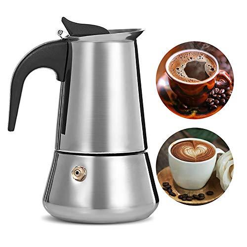 ZUZEN Edelstahl Moka Kaffeemaschine Latte Espresso Mokka Maker Topf Kochfeld Filter Kaffee 50 ML 150 ML 300 ML 500 ML Kaffeemaschine,500ML - Espresso-esszimmer