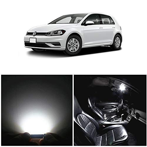 WLJH 11pcs LED luci interne super luminoso bianca Set di lampadine di ricambio per GOLF 6 VI GTI MK6 2010 2011 2013 2014