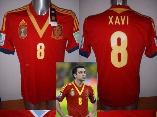 adidas Spanien Xavi Erwachsene Medium BNWT 2013Shirt Jersey Fußball Fußball Barcelona Espana