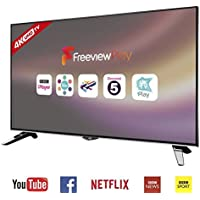 JVC 43 inch 4k Ultra HD (Resolution: 3840 x 2160) Smart LED TV with Freeview Play and Built-in WiFi - Black