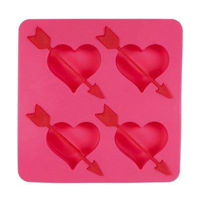 Coole Eiswürfel-Form HERZEN mit roten Pfeilen
