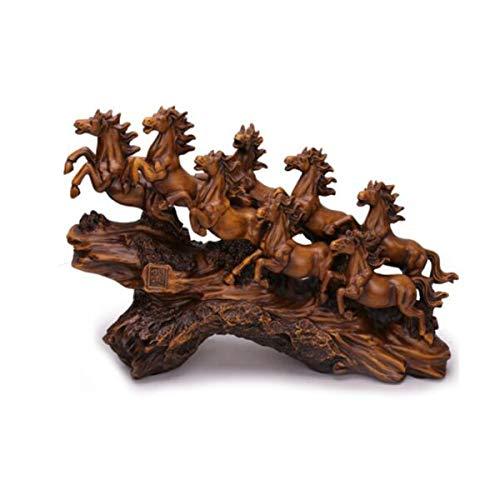 KEHUITONG Büro Dekoration, Zuhause Weinschrank, TV-Schrank Dekoration Ornamente, acht Pferde, männliches Pferd Ornamente Vase im chinesischen Stil, (Color : Natural) - Pferd-vase