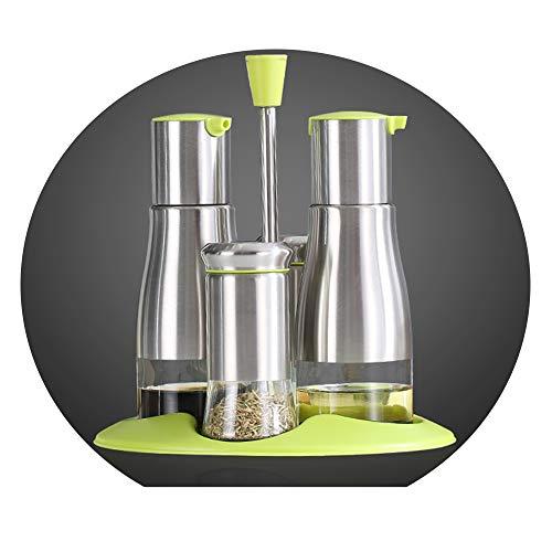 Vasi per spezie in acciaio inox per uso domestico bottiglie per condimenti utilizzato per conservare pepe/sale / zucchero/olio